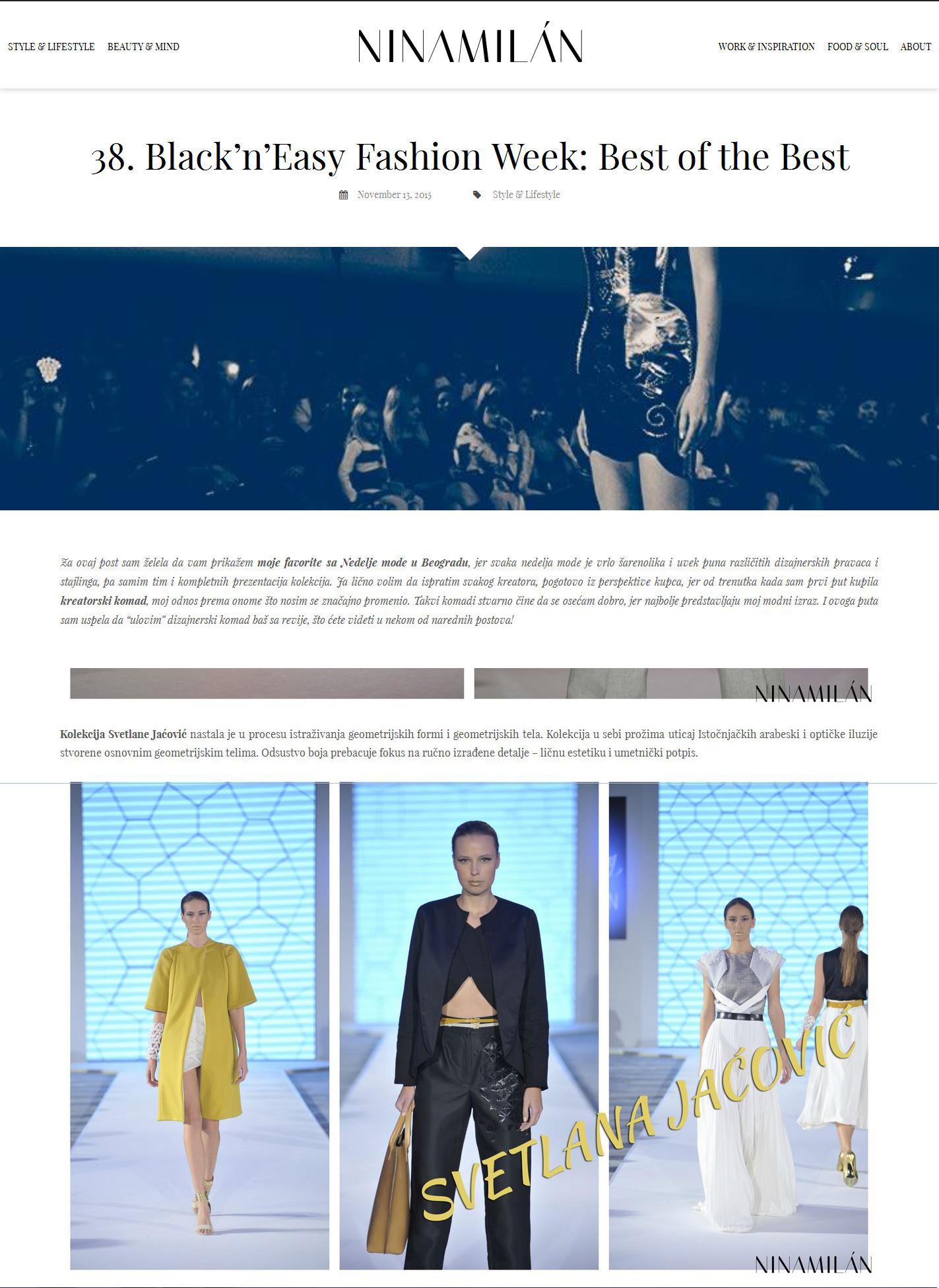 Nina Milan Blog, November 2015